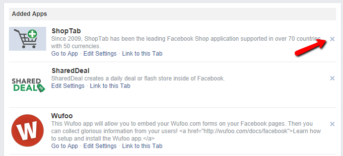how to delete facebook page on app