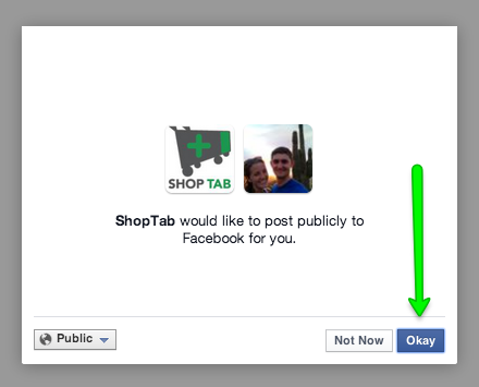 Adding the App to your Facebook Page - Facebook Permissions