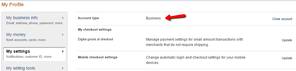PayPal Standard Business isn't Showing the Credit and Debit