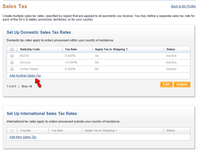 Collect Sales Tax in your Facebook Shop – Application Support